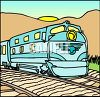 A Diesel Electric Passenger Train clipart