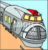 A Passenger Train clipart