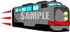 A Diesel Electric Train Engine clipart