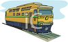 A Passenger Train Engine clipart