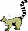 A Cartoon Ring Tailed Lemur clipart