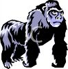 A Cartoon Gorilla clipart