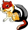 A Striped Chipmunk clipart