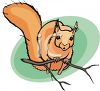 A Squirrel Perched On A Twig clipart