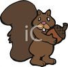 A Cartoon Squirrel With An Acorn clipart