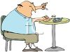 Diabetic Man Testing His Blood Sugar clipart