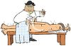 Acupuncturist Treating a Patient clipart
