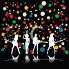Girl Rock Group Background clipart
