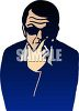 Man Smoking a Cigarette Wearing Shades clipart