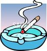 Cigarette Burning in an Ashtray clipart