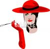 High Class Woman Smoking a Cigarette in a Holder clipart