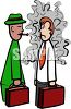 Smoker Blowing Smoke in a Non-Smokers Face clipart