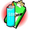 Pack of Cigarettes and a Lighter clipart