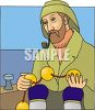 Fisherman Smoking a Pipe clipart