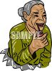 Old Woman Smoking a Pipe clipart