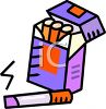 Cartoon of a Pack of Cigarettes clipart