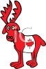 Canadian Moose with a Maple Leaf clipart