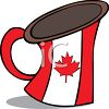 Canadian Maple Leaf on a Beer Stein clipart