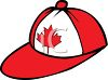 Canadian Maple Leaf on a Ball Cap clipart