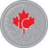 Canadian Maple Leaf on a Coin clipart