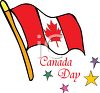 Canadian Flag with Canada Day Text clipart