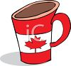 Canadian Maple Leaf on a Coffee Mug clipart