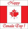 Happy Canada Day Banner clipart