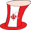 Canadian Maple Leaf on a Top Hat clipart