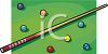 Pool Table and Cue Stick  clipart