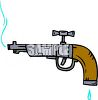Water Faucet Shaped Like a Gun clipart