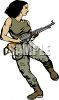 Female Guerrilla Soldier clipart