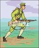 German Soldier with a Rifle clipart