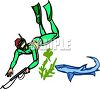 Scuba Diver with a Harpoon Gun clipart