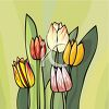 Colorful Tulip Flower Plant clipart
