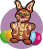 Chocolate Easter Bunny With Eggs clipart