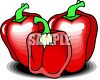 Sweet Red Bell Peppers clipart