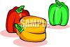 Bunch Of Colorful Bell Peppers clipart