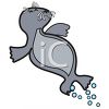 Cartoon of a Playful Seal clipart