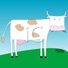 Cartoon of a Simple Cow clipart