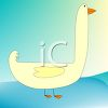 Cartoon of a Simple Goose clipart