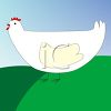 Cartoon of a Simple Chicken clipart
