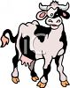 Black and White Cartoon Dairy Cow clipart