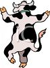 Dancing Cartoon Dairy Cow clipart