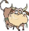 Funny Cartoon Bull clipart