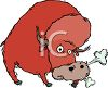 Snorting Bull clipart
