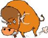 Charging Bull clipart