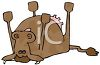 Dead Cow Cartoon  clipart