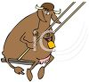 Cow Riding a Swing clipart