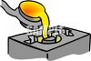 Molten Gold Being Poured Into a Mold clipart