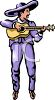 Mariachi Player with a Guitar clipart